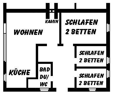 Bungalow Borkum Wohnung 2 - 00 0,2